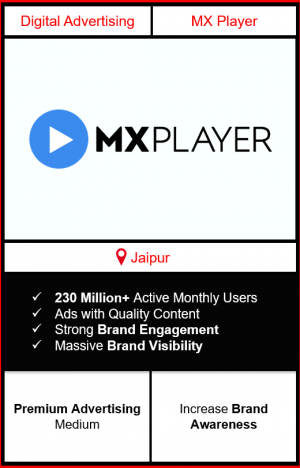mx player advertising in jaipur, advertising on mx player, how to advertise on mx player, ott advertising, ad in mx player