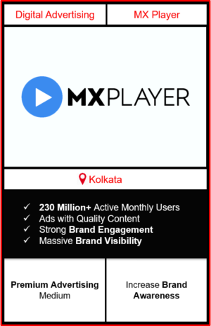 mx player advertising in kolkata, advertising on mx player, how to advertise on mx player, ott advertising, ad in mx player