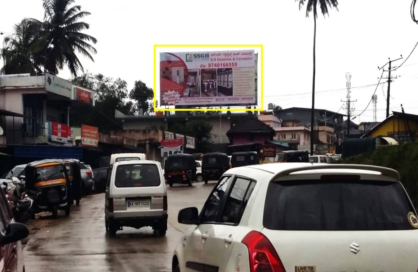 Option No.1 Outdoor Hoarding Advertising at Main Road FTT Bus Stand, Mudigere