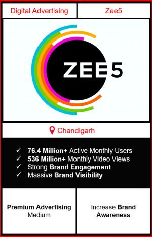 zee5 app advertising in chandigarh, zee5 advertising, ads on zee5, how to advertise on zee5, zee5 branding