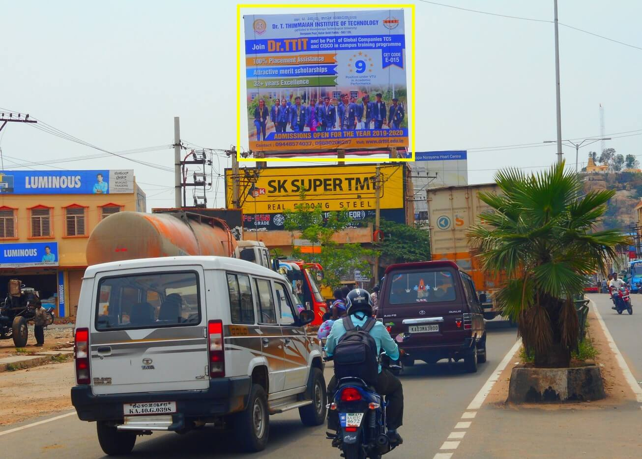 Option No.2 Outdoor Hoarding Advertising at Private Bus Stand, Chintamani