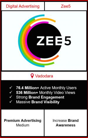 zee5 app advertising in vadodara, zee5 advertising, ads on zee5, how to advertise on zee5, zee5 branding