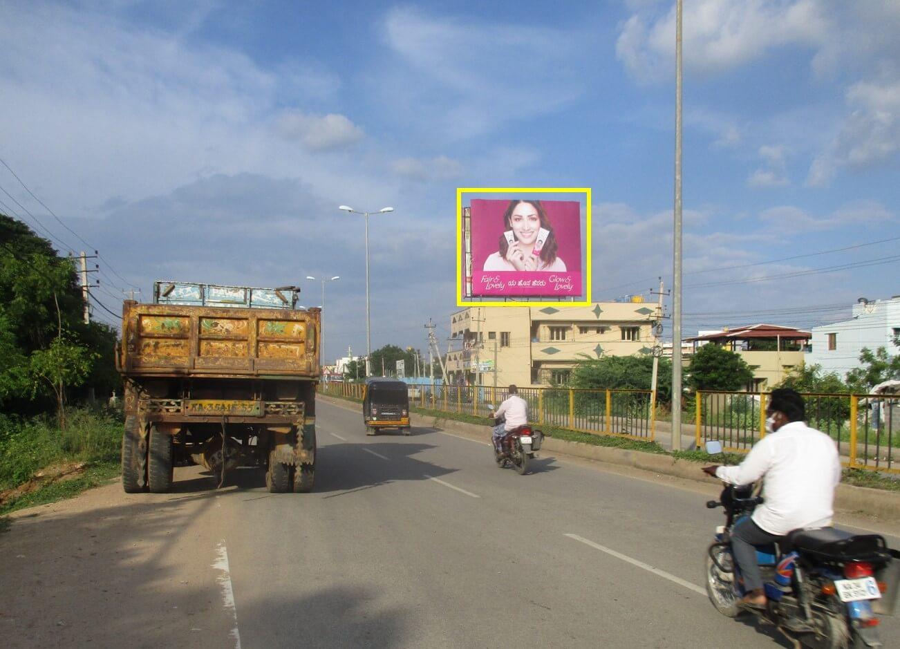 Outdoor Hoarding Branding Near Gandhi Nagar Market, Ballari