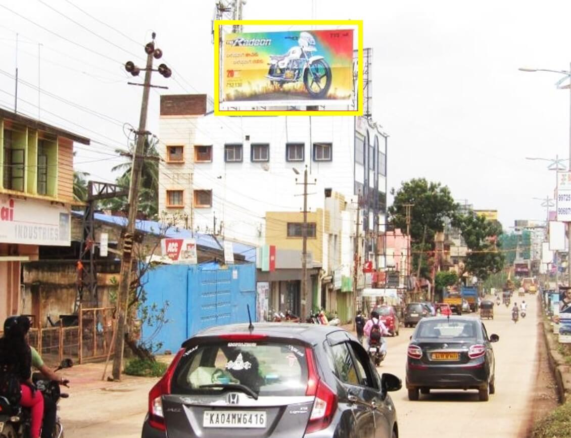 Outdoor Hoarding Branding at Gokul Road from Airport FTT City, Hubli