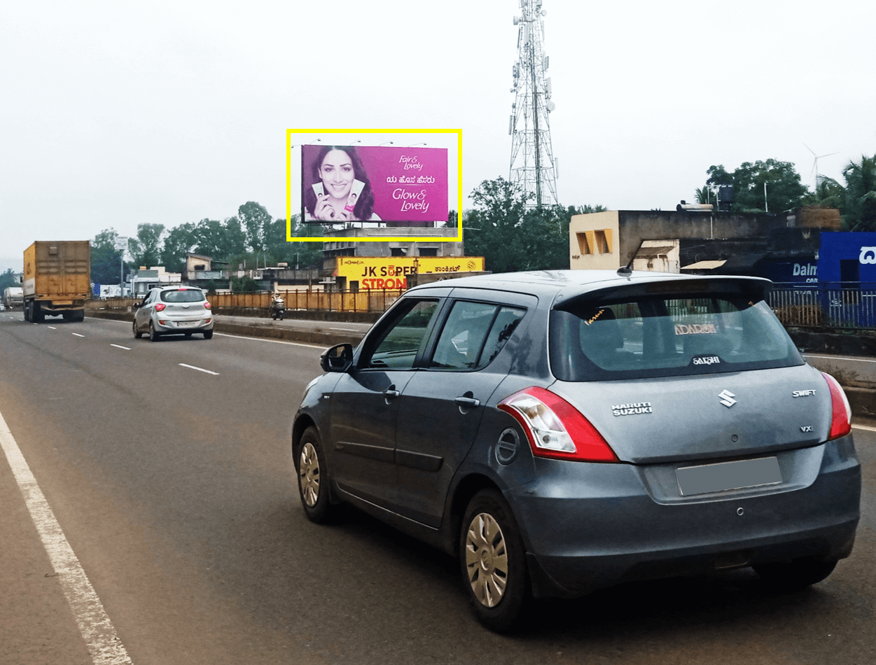 Outdoor Hoarding Branding at KLE College Road, Belgaum