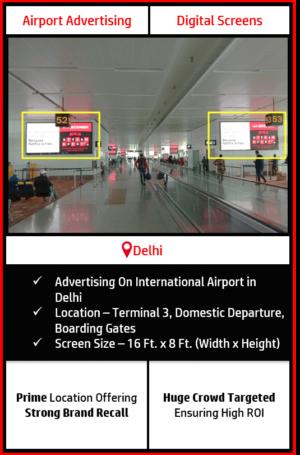 advertising on delhi airport, airport branding in delhi, advertising on delhi international airport, delhi airport advertising agency