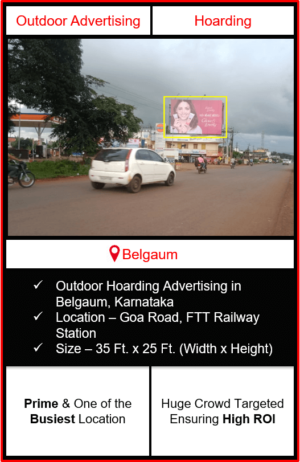 Outdoor hoarding advertising in Belgaum, outdoor advertising in Belgaum, hoarding advertising in Belgaum, Belgaum outdoor ads agency, advertising agency in Belgaum
