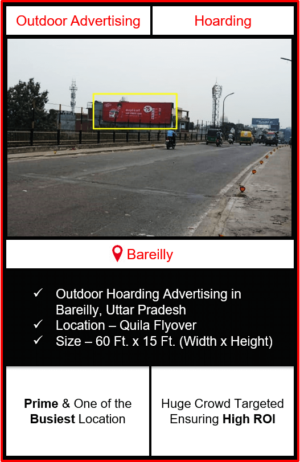 Outdoor hoarding advertising in Bareilly, outdoor advertising in Bareilly, hoarding advertising in Bareilly, Bareilly outdoor ads agency, advertising agency in Bareilly, Uttar Pradesh
