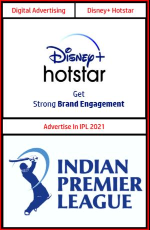advertising in ipl 2021, advertise in ipl, advertising in ipl, disney+ hotstar advertising, advertising in ipl match