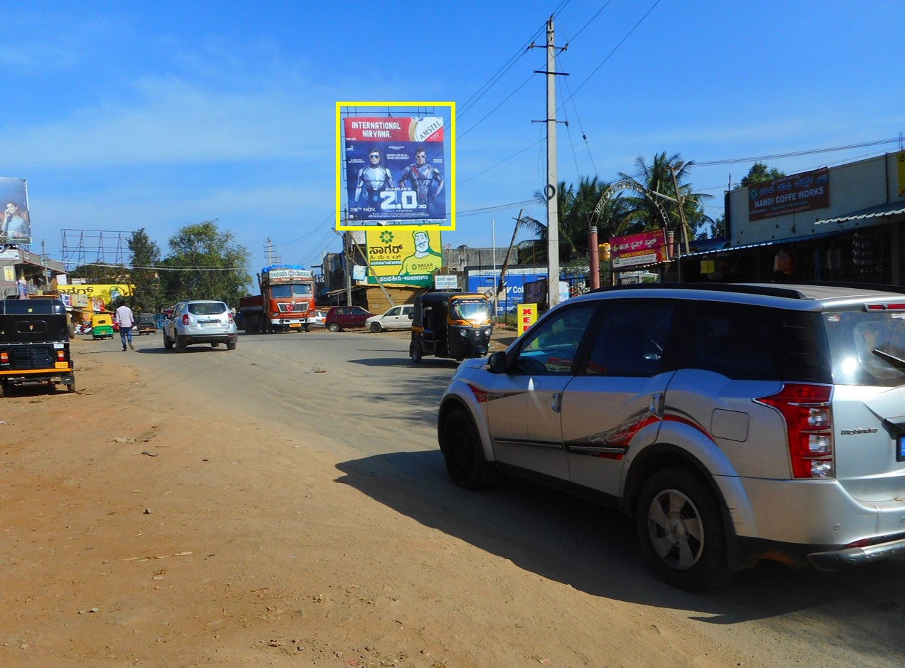 Outdoor Hoarding Branding at Bus Stand FTT IG Road, Chikmagalur