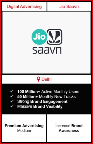 jio saavn app advertising in Delhi, jio saavn advertising, ads on jio saavn, how to advertise on jio saavn, jio saavn branding in Delhi
