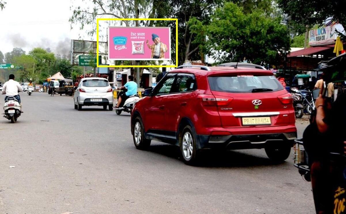 Outdoor Hoarding Branding At Court Chowk, Pathankot