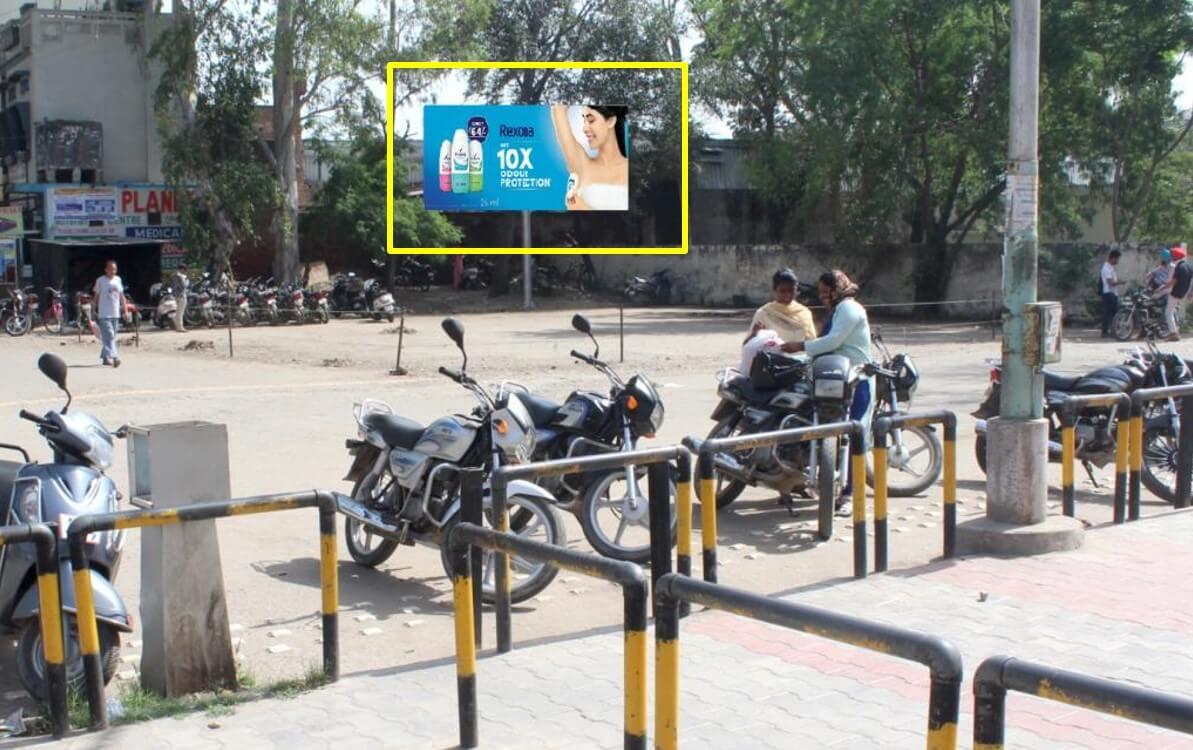 Option No.1 Hoarding Branding at Exit-1, Railway Station, Batala
