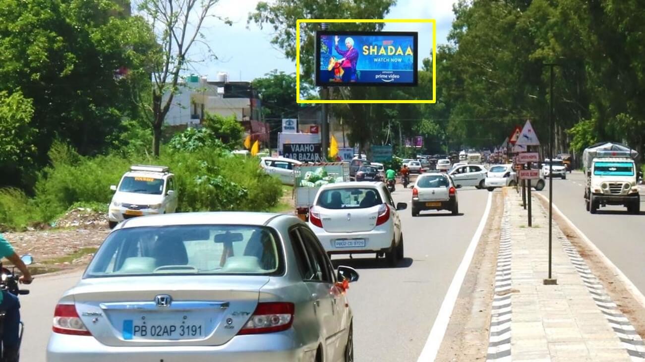 Outdoor Hoarding Branding Near Novelty Mall, Pathankot