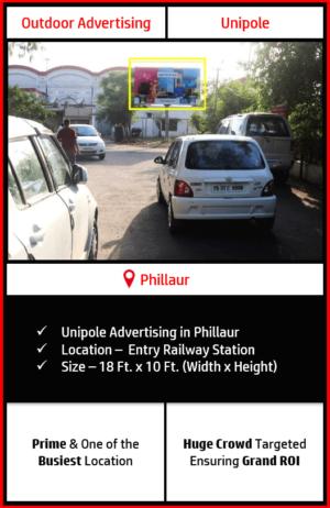 outdoor advertising in phillaur, railway station advertising at phillaur, outdoor advertising agency in phillaur