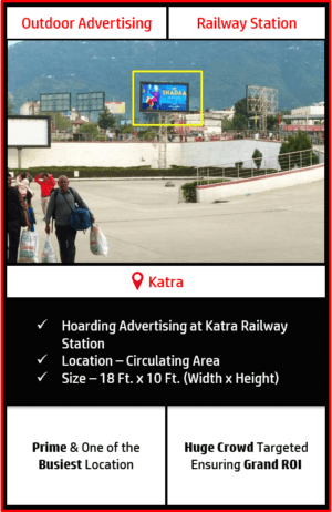 Outdoor hoarding advertising in Katra, outdoor advertising in Katra, hoarding advertising in Katra Vaishno Devi, Katra outdoor ads agency, advertising agency in Katra