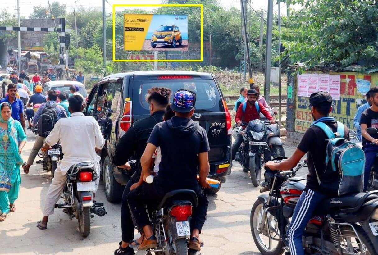 Option No.2 Hoarding Branding at Railway Crossing, Hoshiarpur