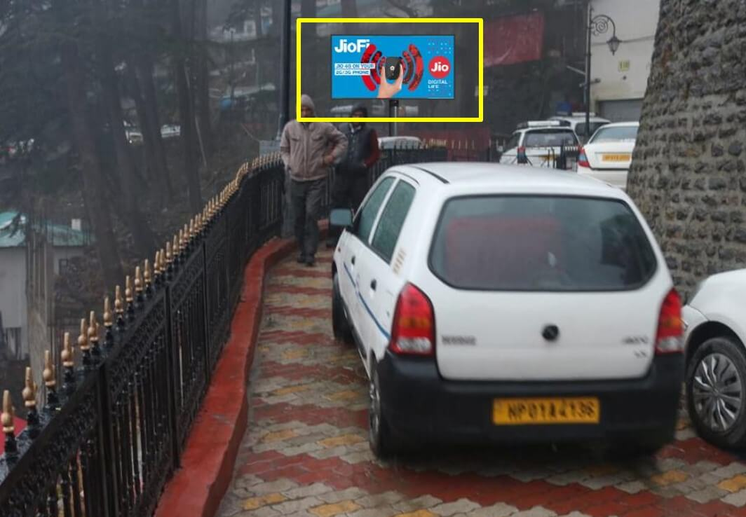 Option No.2 Hoarding Branding at Exit Railway Station, Shimla