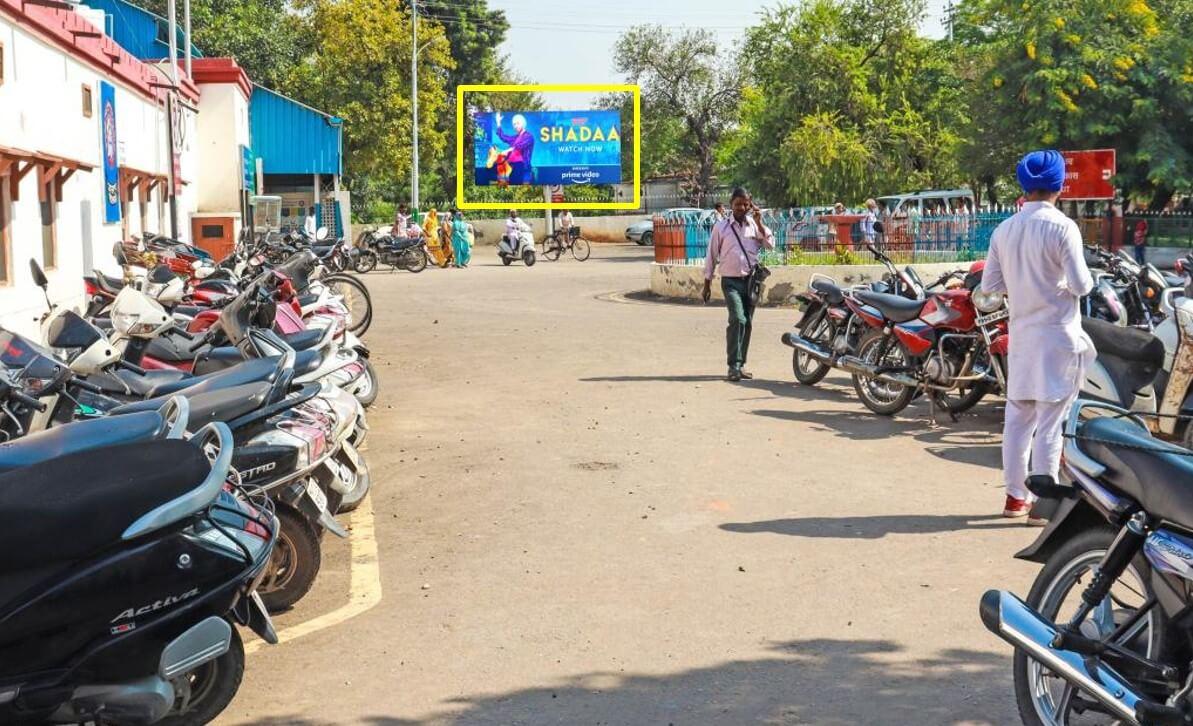 Option No.1 Hoarding Branding at Circulating Area, Railway Station, Moga