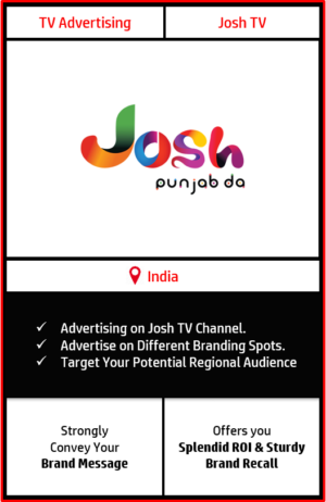 josh tv advertising, advertising on josh tv, josh tv advertising agency