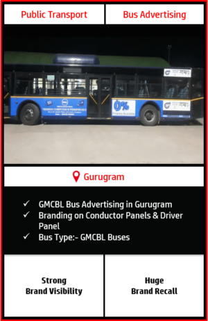 GMCBL Bus Advertising, Advertising on Buses In Gurgaon, Gurugram Roadways Buses Advertisement, Bus Advertising in Gurugram, Gurugram Metropolitan City Bus Limited Buses Advertising, GMCBL (Gurugram Metropolitan City Bus Limited) Buses Advertisement Campaign