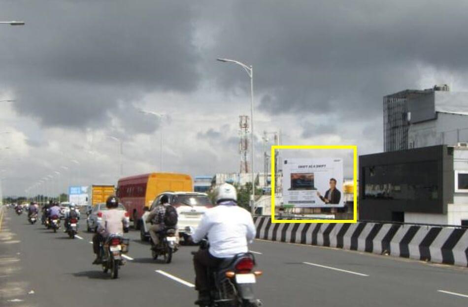 Option No.1 Outdoor Hoarding Advertising At Pallavaram Bridge Towards Airport, Chennai