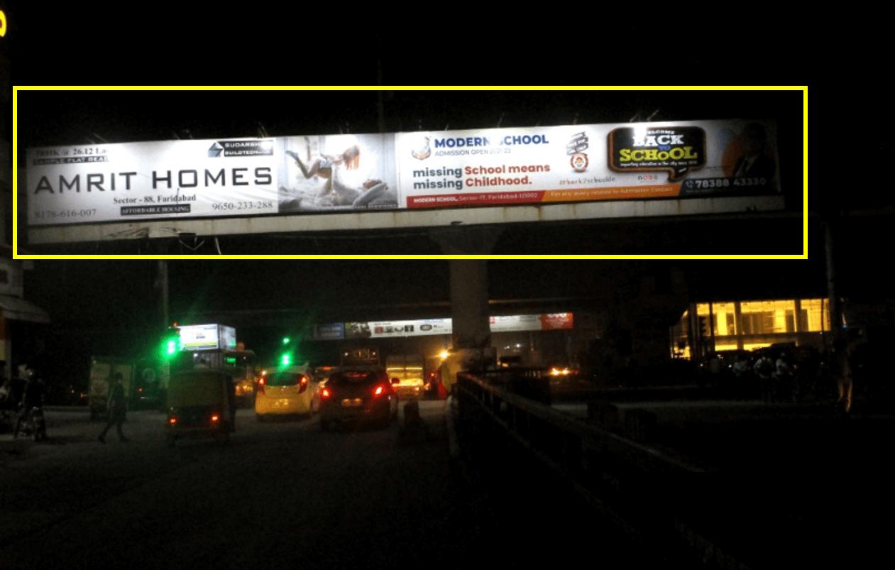 Outdoor Hoarding Branding At Bhadkal Chowk Facing NH2, Faridabad